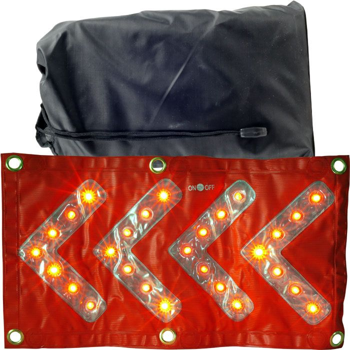 TRAFFIC SIGN W/ LED AND REFLECTOR