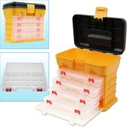 Stalwart 53 Compartment Durable Plastic Storage Tool Box - Yellow at Kmart.com