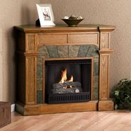 Southern Enterprises Cartwright Mission Oak Convertible Slate Gel Fuel Fireplace at Kmart.com