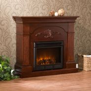 Southern Enterprises Sicilian Harvest Mahogany Electric Fireplace at Kmart.com