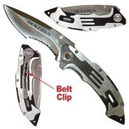 Trademark Tools Matrix Stainless Steel Folding Knife - Silver Finish at Sears.com