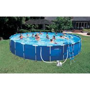 Intex 24' x 52 Metal Frame Pool Set (w/ 2,650gph Sand Filter Pump) at Kmart.com