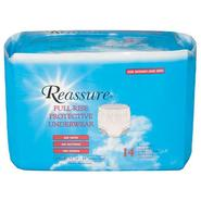 Reassure Full Rise Super Protective Underwear, Bag of 22, Small at Kmart.com