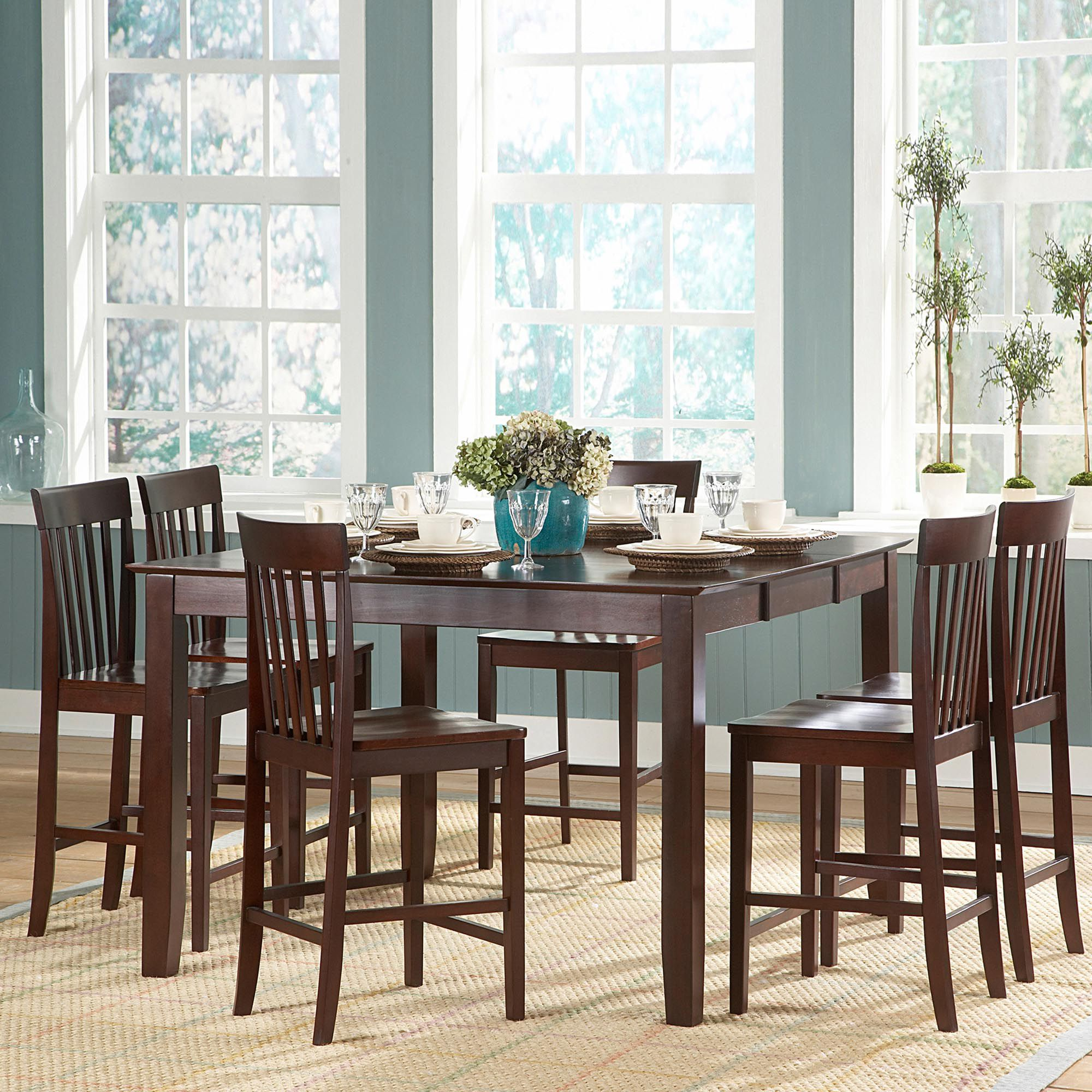 7 pieces Counter Height Table Sets