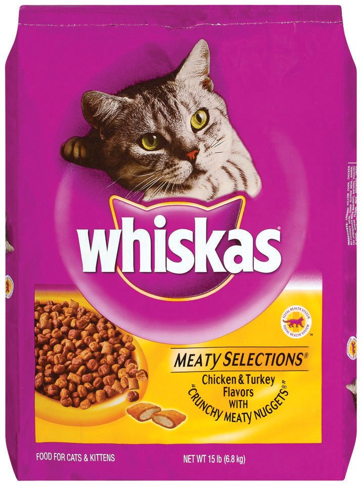 Whiskas Dry Cat Food Meaty Selections Chicken Amp Turkey 15