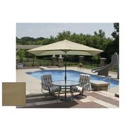 Swim Time Adriatic 6.5 ft. x 10 ft. Rectangular Market Umbrella in Stone Olefin at Kmart.com