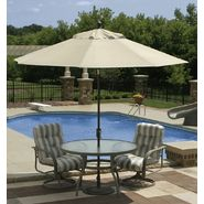 Swim Time Catalina II  9 ft. Octagonal Market Umbrella w/ Auto-Tilt in Champagne Olefin at Kmart.com
