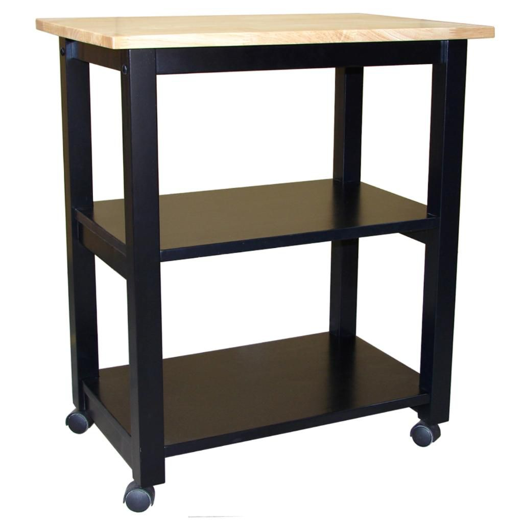 Microwave Cart Black/Natural                                                                                                     at mygofer.com