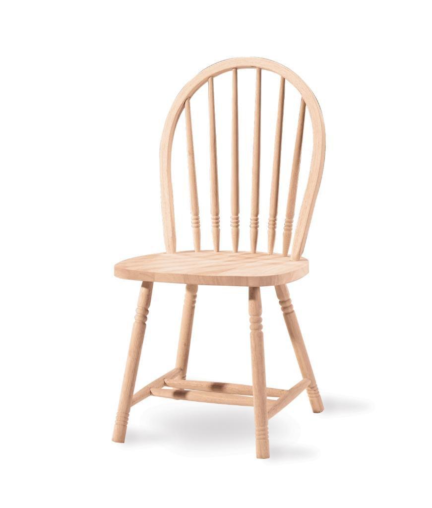 International Concepts Unfinished Junior Windsor Spindleback Chair