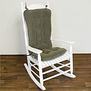 Greendale Home Fashions Jumbo Standard Rocking Chair Cushion - Cherokee Solid -  Sage at Sears.com