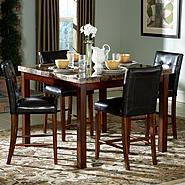 Oxford Creek 5-Piece Faux Marble Top Counter Height Dining Set at Kmart.com