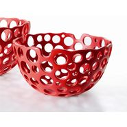 "Kokoware NARI 7.5"" Mesh Accent Bowl - Red at Sears.com"