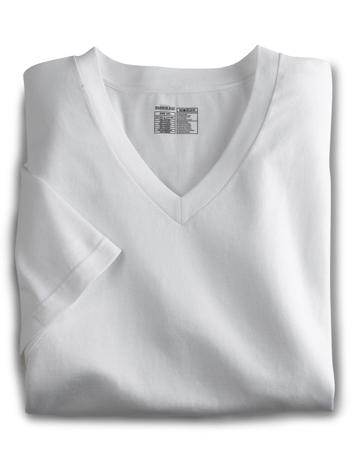 Harbor Bay ® 2-pk V-Neck T-Shirts