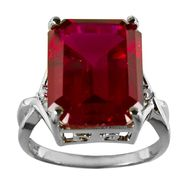 Lab Created Ruby and Diamond Ring at Kmart.com