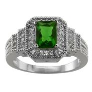 Lab Created Emerald and Cubic Zirconia Ring at Sears.com