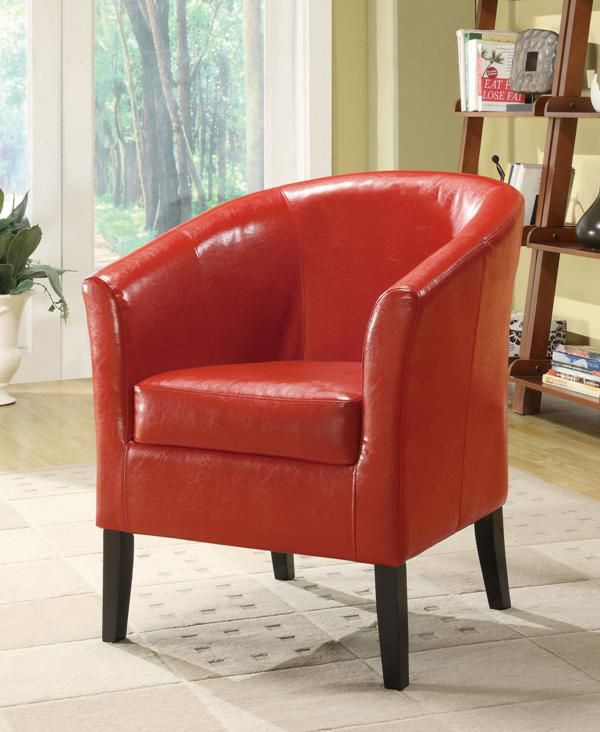 Simon Red Club Chair