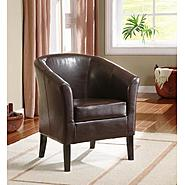 Linon Simon Brown Club Chair at Sears.com