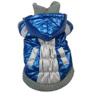Pet Life VINTAGE HOODED SKI JACKET with Removeable Hood - Small - Blue at Kmart.com