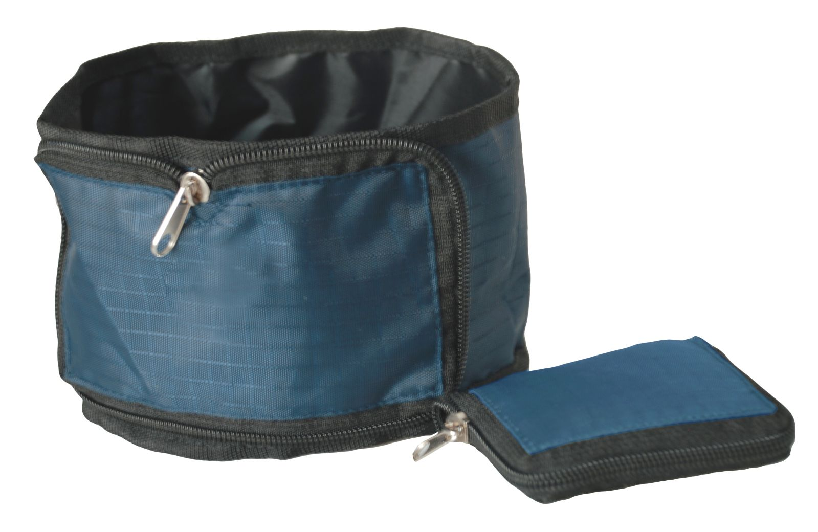 SINGLE FOLDING WALLET ZIPPERED TRAVEL PET BOWL
