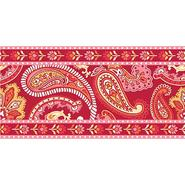 WallPops Wall Pops 6.5 in. x 16 ft. long Paisley Please (Red/Pink) Stripe at Kmart.com
