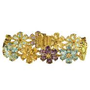 Multi Gemstone Flower Bracelet at Kmart.com