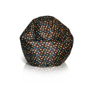 American Furniture Alliance Classic Small Bean Bag - Brown w/Turquoise Dots at Kmart.com