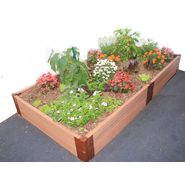 "Frame It All Urban 4' x 8' x 12"" Raised Garden  in  Composite Wood Grain Timbers at Sears.com"
