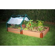 "Frame It All 4' X 8' X 12"" Composite Timber  Raised Garden with Soft-sided Greenhouse at Sears.com"
