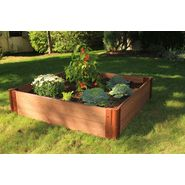 "Frame It All 4' x 4' x 12"" Raised Garden with  1"" Profile Composite Wood Grain Timbers at Sears.com"