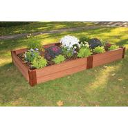 "Frame It All 4' x 8'x 12"" Raised Garden with 1"" Profile Composite Wood Grain Timbers at Sears.com"