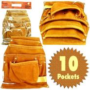 Stalwart Professional 10 Pocket Genuine Leather Tool Bag Pouch at Sears.com