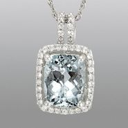 Aquamarine & Lab Created White Sapphire Pendant at Sears.com
