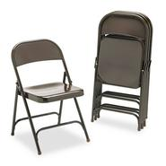 Virco Metal Folding Chairs, Mocha, Four/carton at Kmart.com