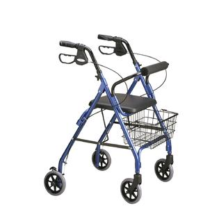 Medline Deluxe Rollator, Royal Blue