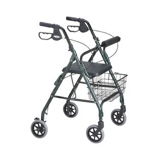 Medline Deluxe Rollator, Black