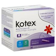 Kotex Security Tampons, Plastic, Multipack, Unscented, 36 tampons at Kmart.com