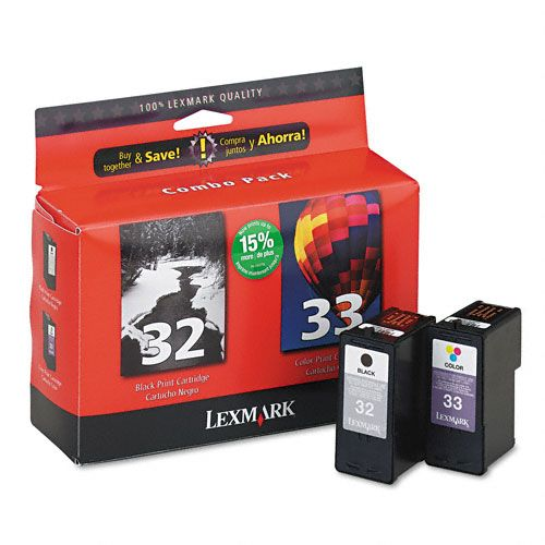 18C0532 - Lexmark Twin Pack Ink Cartridge - Inkjet - Negroid, Color