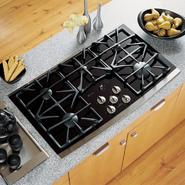 "GE Profile Profile™ Series 36"" Ceramic-Glass Gas Conventional Cooktop w/ Sealed Burners at Sears.com"