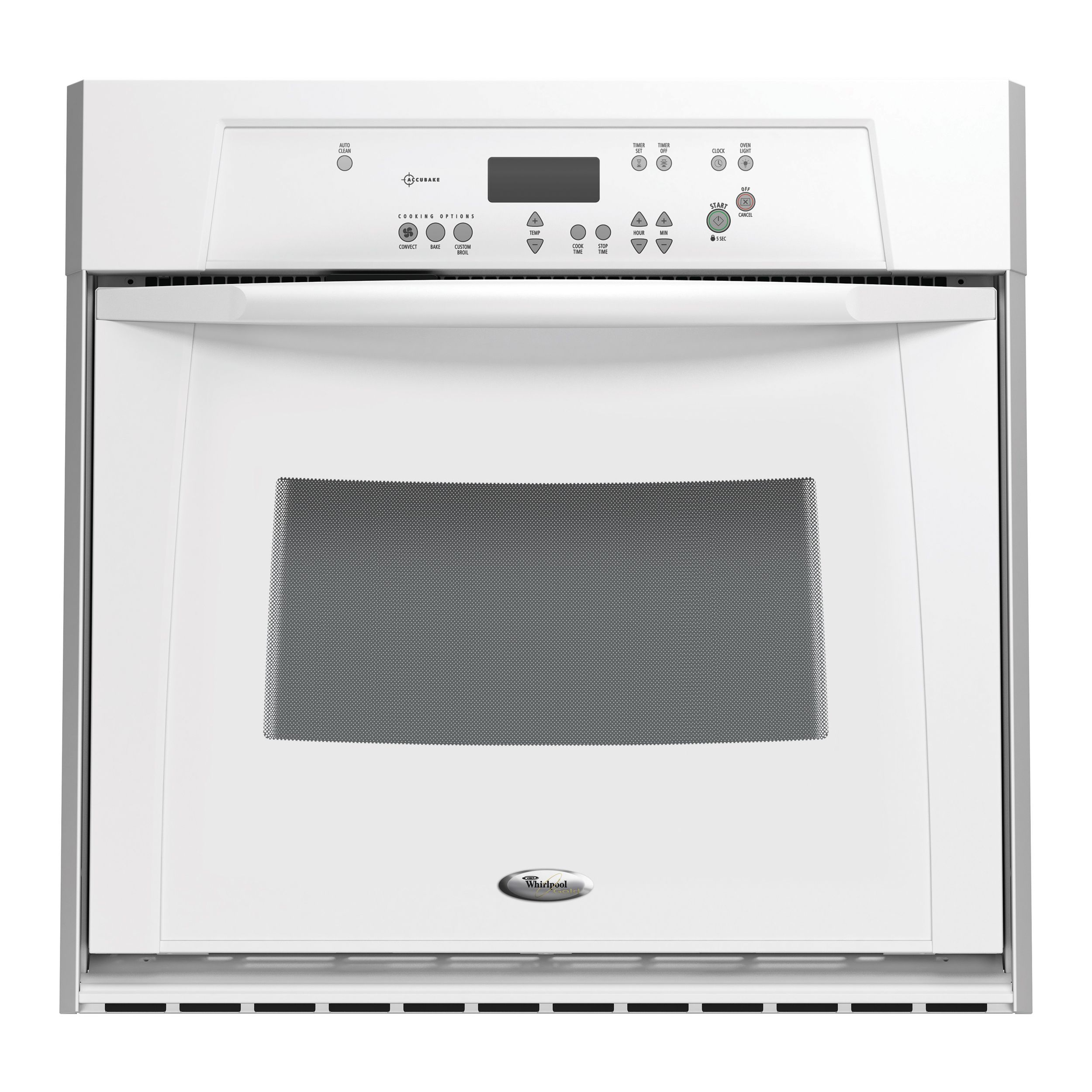 Whirlpool Gold 30 in. Electric Single AccuBake® Self-Clean Convection Wall Oven