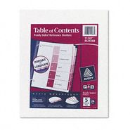 Avery Table of Contents Index Divider, 5-Tab, Assorted at Kmart.com