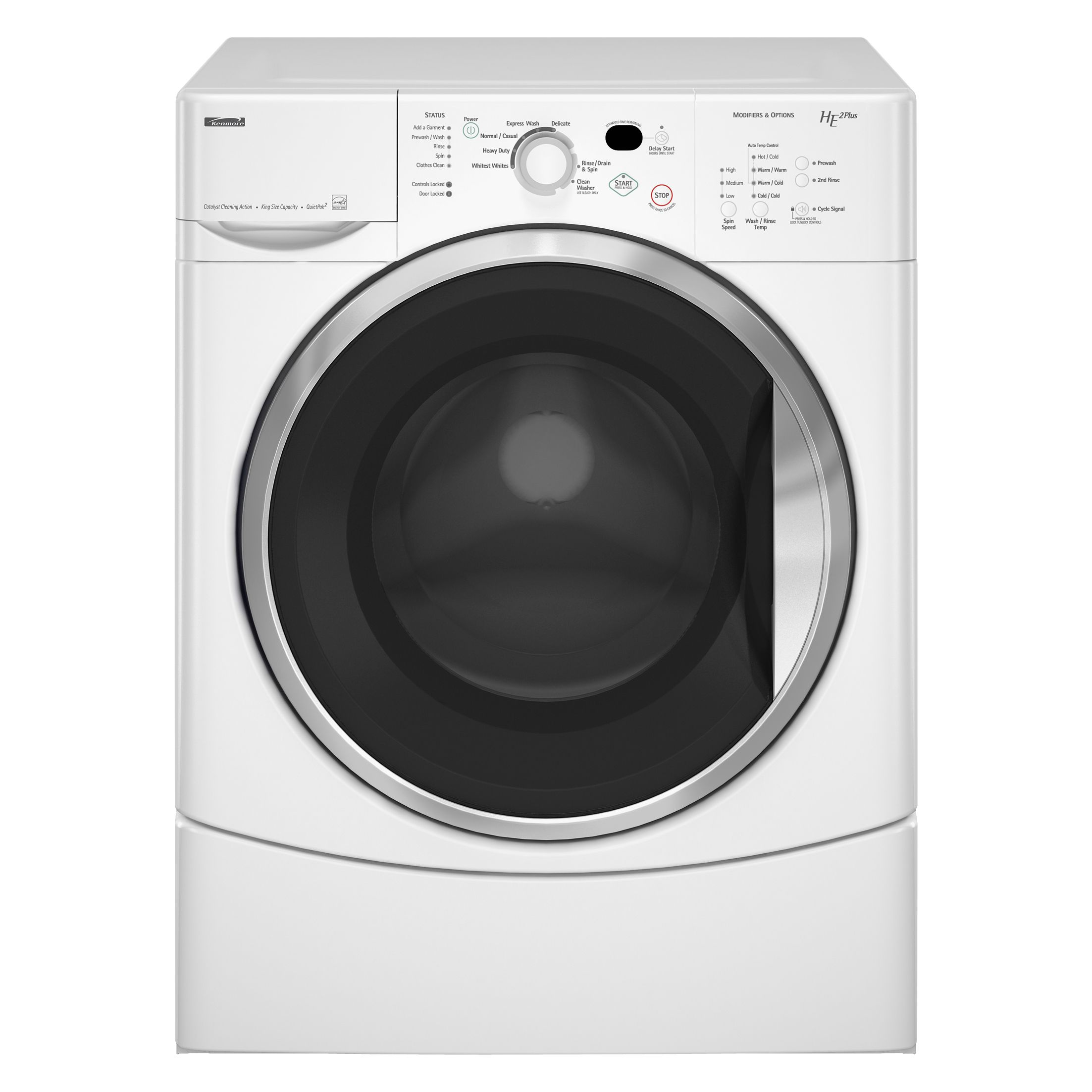 Sears Kenmore Washer And Dryer Kenmore - 4751 - HE2 Plus 3.6 cu. ft. Front-Load Super ...