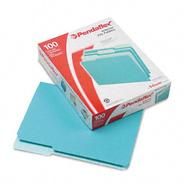 Pendaflex 1/3 Cut Top Tab Letter File Folders, Aqua, 100/Box at Kmart.com