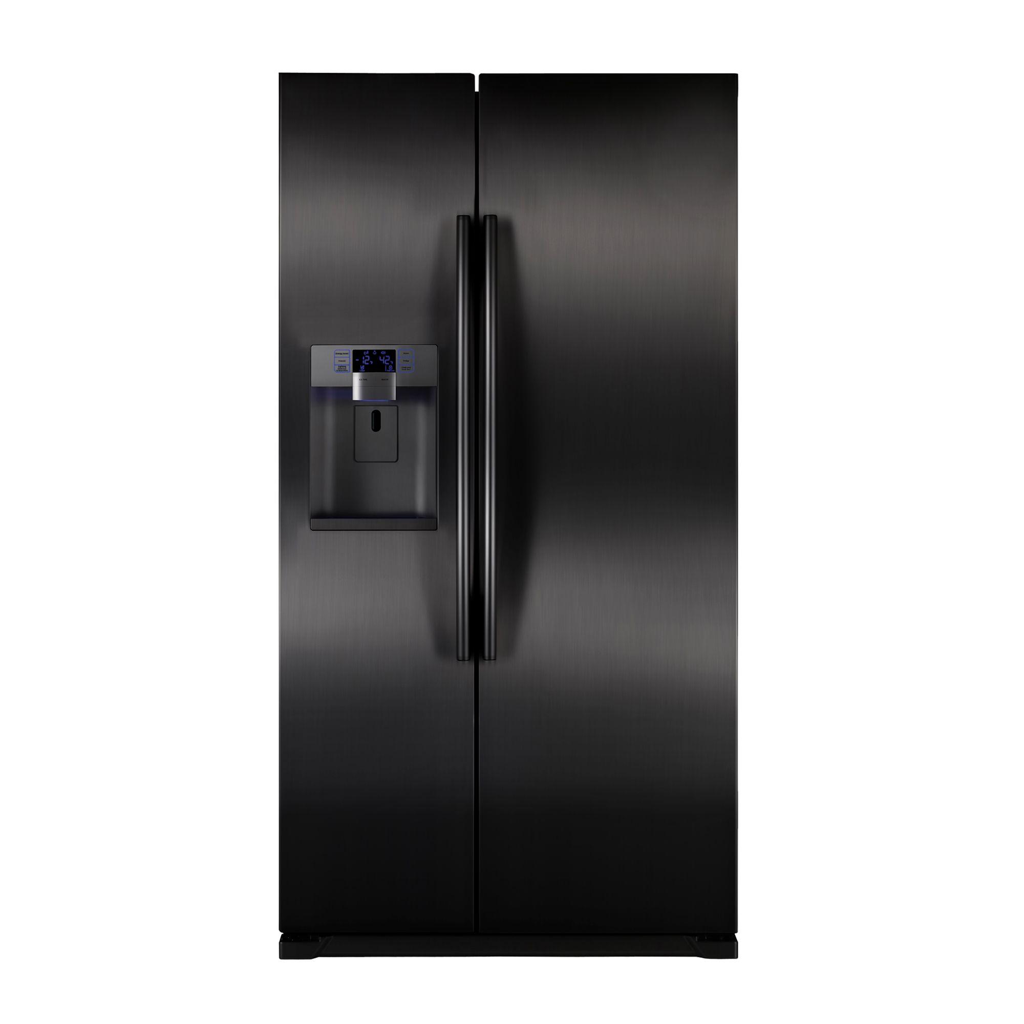 Samsung Rsg257aabp 24 1 Cu Ft Side By Side Refrigerator