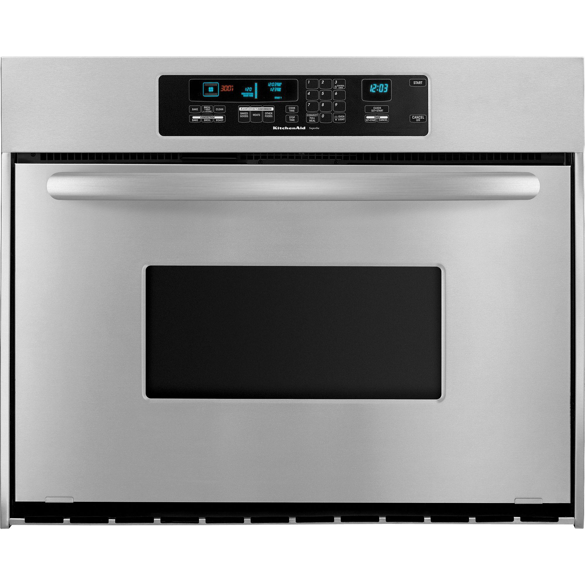 "Oven Baking Element >> KitchenAid KEBC167VSS Architect® 36"" Single Wall Oven w/ True Convection"