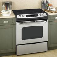 "GE 30"" Self-Clean Slide-In Electric Range w/ Ceramic Glass Cooktop at Sears.com"
