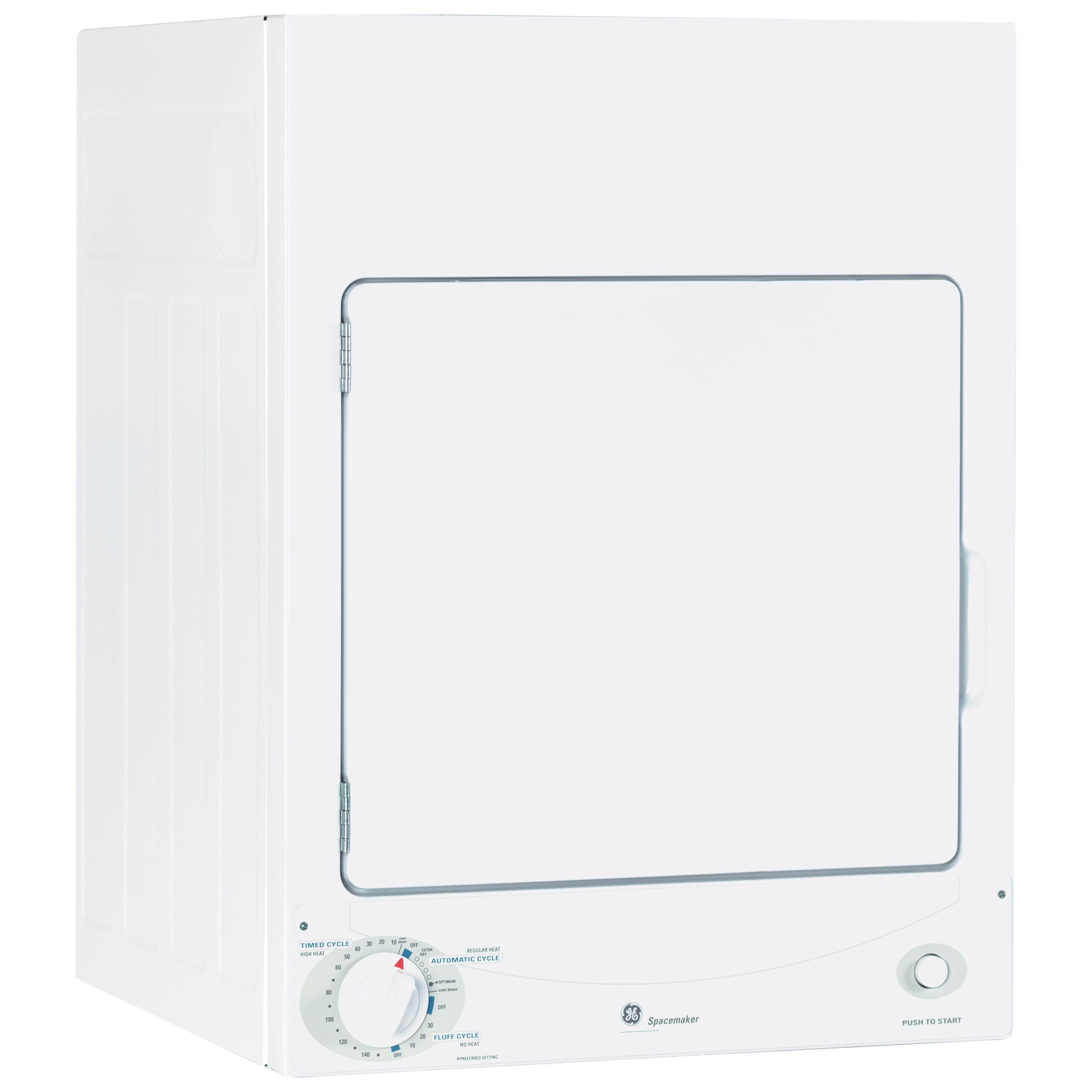 GE Appliances DSKS333ECWW 3.6 cu. ft. Electric Dryer - White