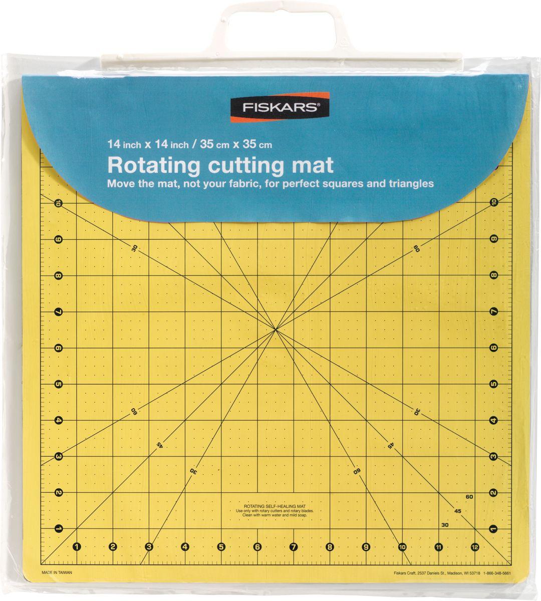 "Fiskars 14""x14"" Rotating Cutting Mat PartNumber: 02006647000P"