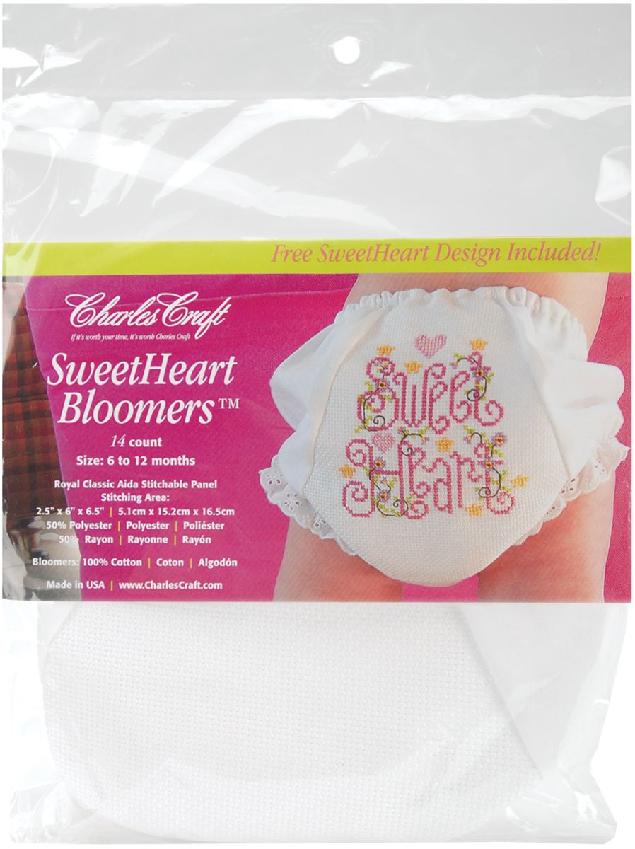 Charles Craft White Bloomers Sweetheart - CHARLES CRAFT INC