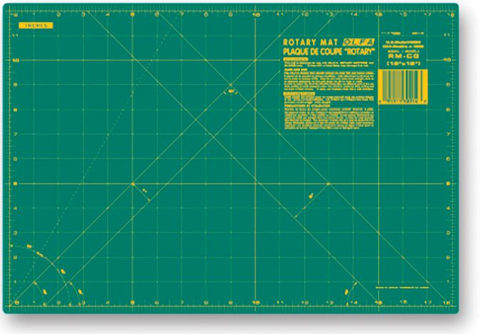 OLFA 9880 RM-CG 12-Inch x 18-Inch Self-Healing Double-Sided Rotary Mat PartNumber: 02067151000P