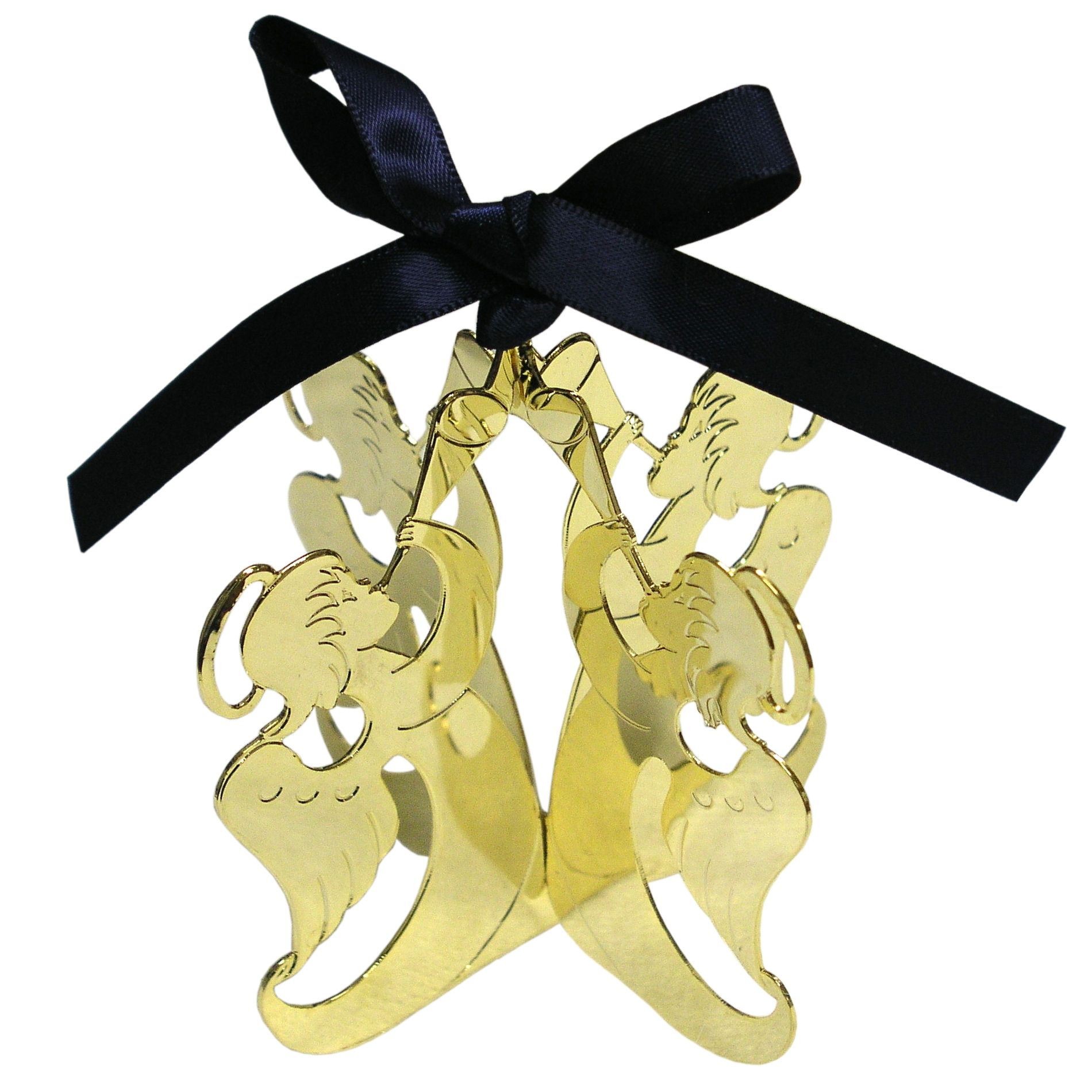 Goldtone Dimensional Angel Ornament